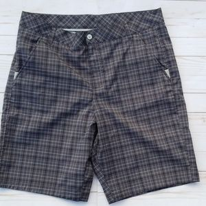 Fila Sport Golf Shorts Men's size 36 plaid Grey